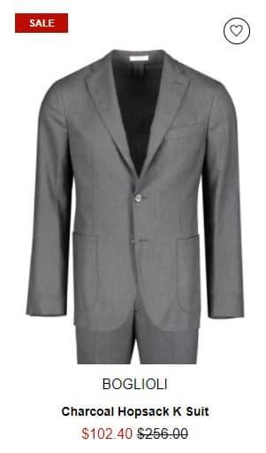 Boglioli Charcoal Hopsack K Suit