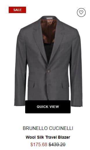 Brunello Cucinelli Wool Silk Blazer