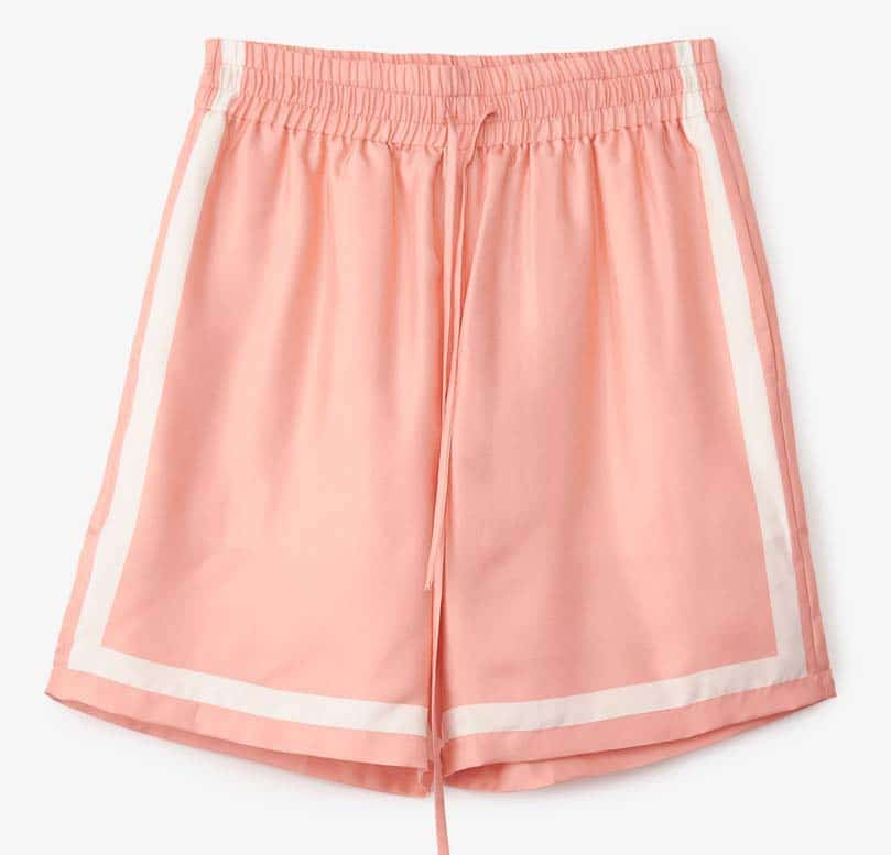Casablanca Silk Tennis Shorts