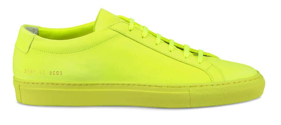 Common Projects Achilles Neon Yellow