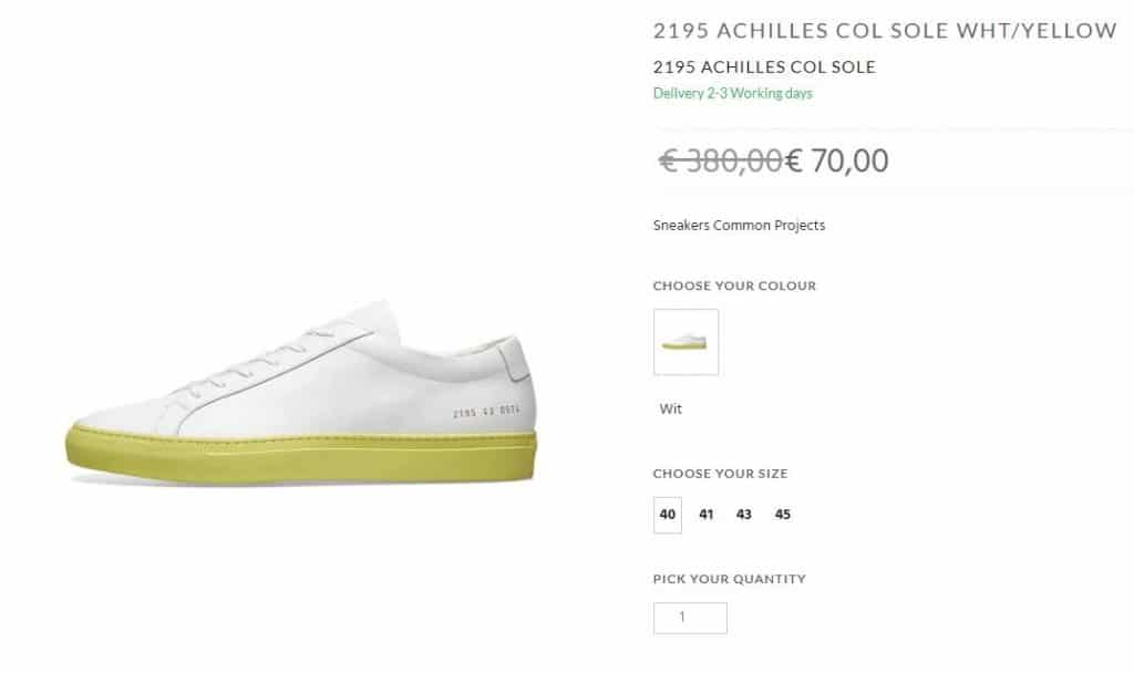 Common Projects Achilles Contrast Sole