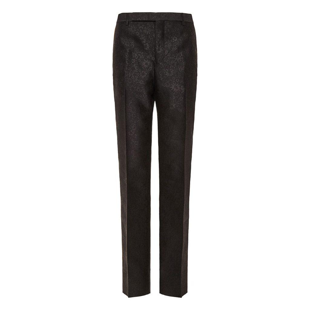 Saint Laurent Jacquard Black Trousers