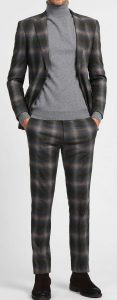 8 by Yoox Tartan Wool Suit