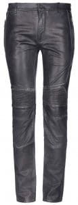 Balmain Black Leather Moto Pants