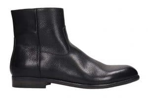 Buttero Grained Black Leather Chelsea Boots