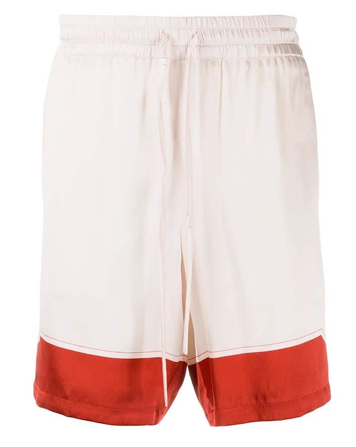 Casablanca Rose Silk Shorts
