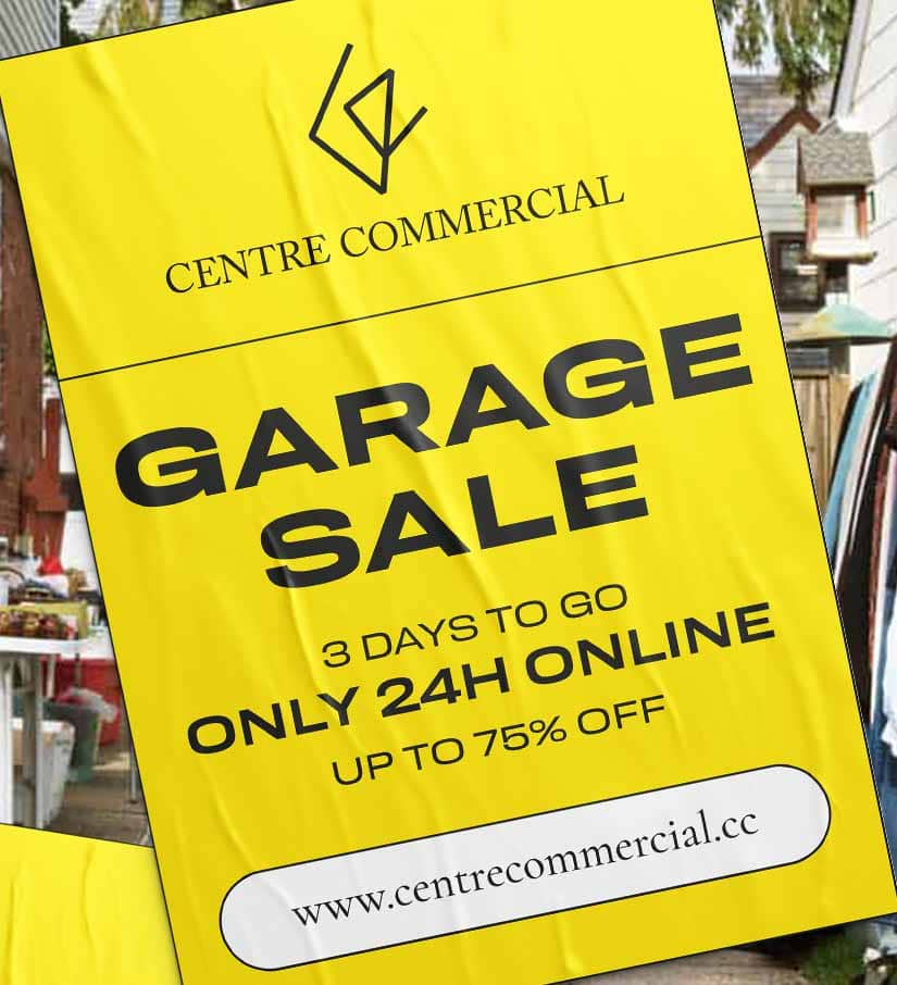 Centre Commercial Garage Sale