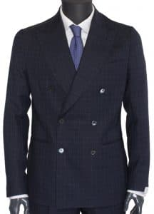 De Petrillo Double Breasted Napoli Suit​ Navy