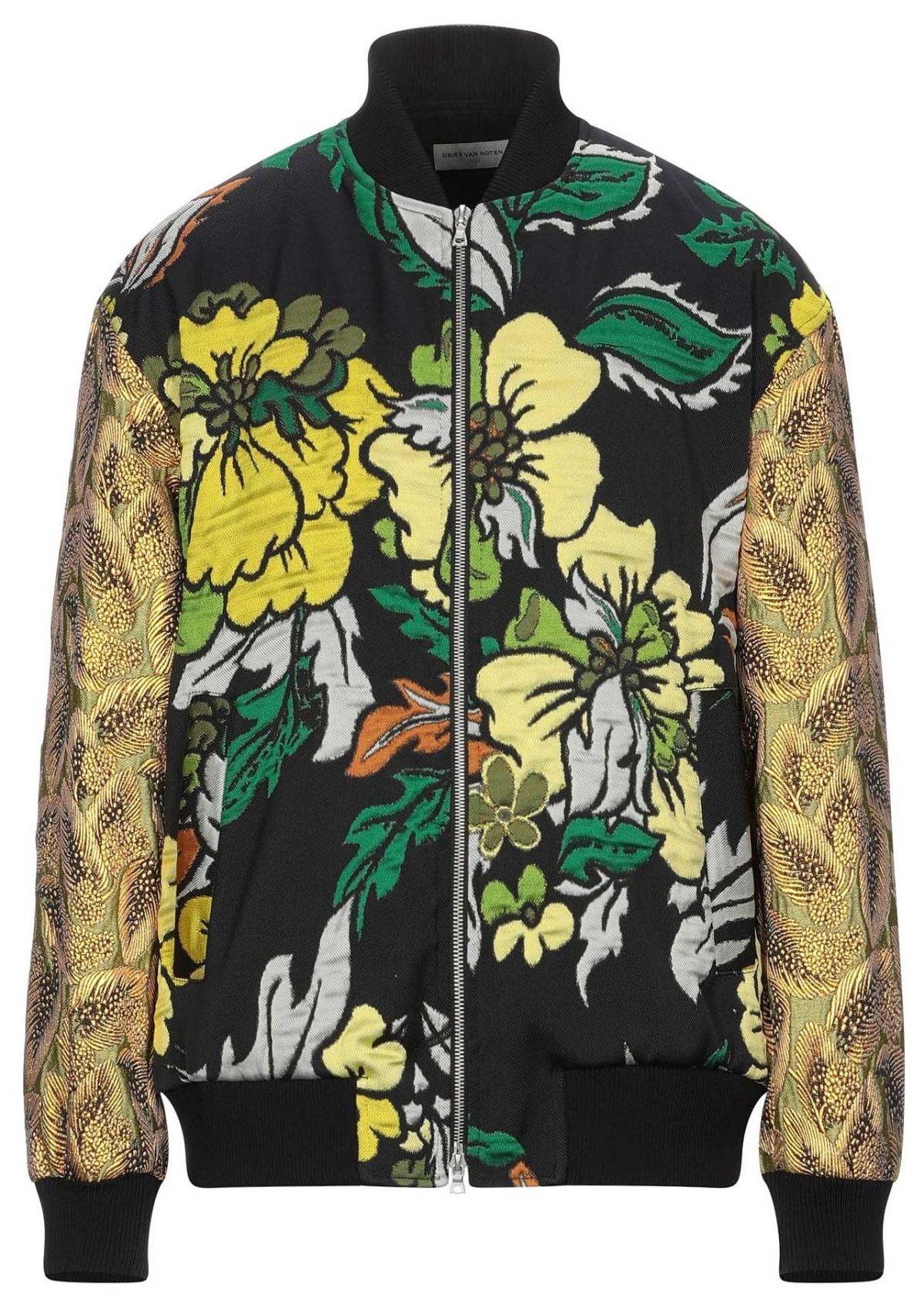 Dries Van Noten Floral Jacquard Weave Bomber Jacket