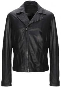 Giorgio Brato Black Leather Jacket