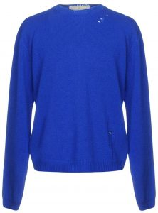 Golden Goose Deluxe Brand Blue Distressed Wool Sweater