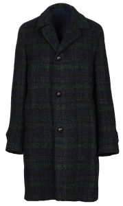 Massimo Piombo Check Wool Coat