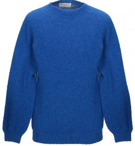 Officine Generale Blue Wool Sweater