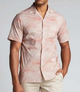 Officine Generale Palm Print Button Down Dario Shirt