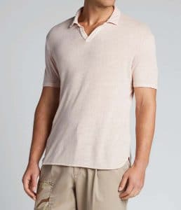 Officine Generale Simon Linen Polo Shirt