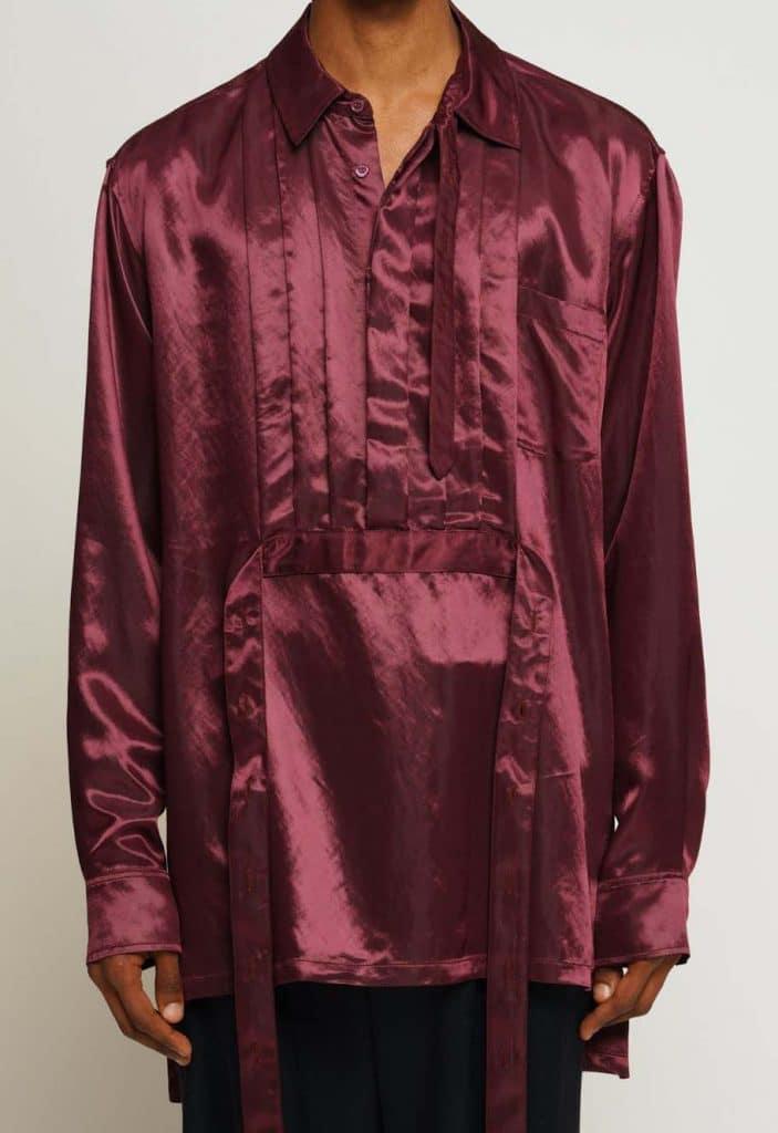 Sies Marjan Hendrix Satin Shirt Sangria