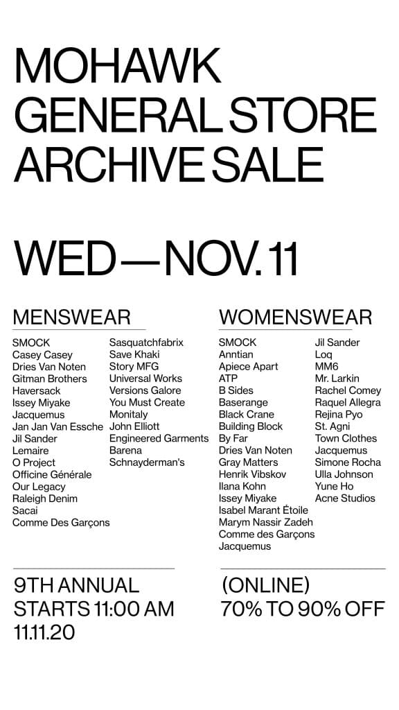 Mohawk General Store Archive Sale