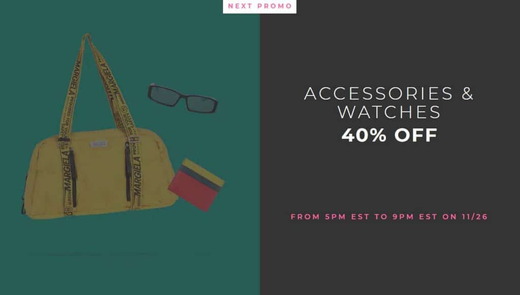 Yoox Black Friday Accessories