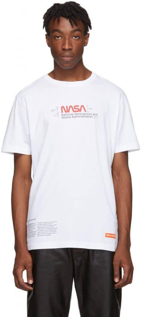 heron preston white manual regular tshirt