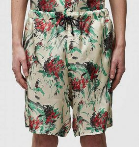 Dries Van Noten Viscose Floral Shorts