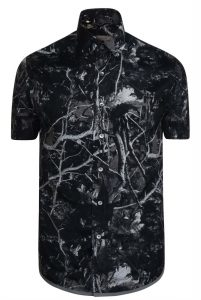 Lanvin Jungle Print Short Sleeve Shirt Black