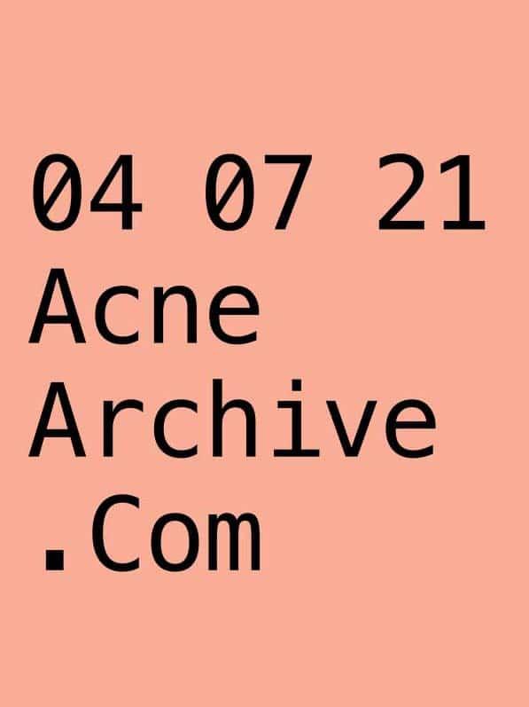 acne studios archive cover