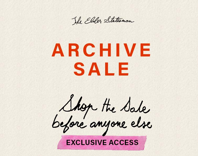 the elder statesman archive sale